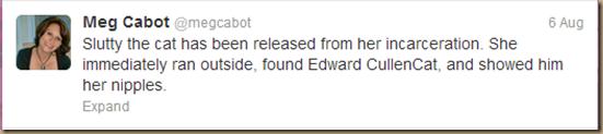 Meg Cabot tweet